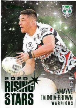 2021 Nrl Traders Album Parallel Rising Stars (RSP15) Jamayne TAUNOA-BROWN Warriors