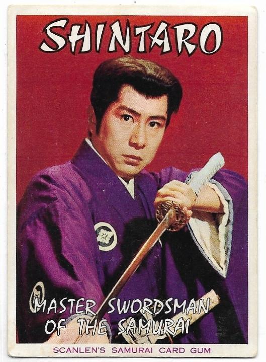 1964 Scanlens Samurai HEADER CARD Master Swordsman Of The Samurai