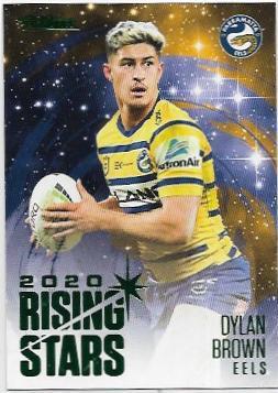 2021 Nrl Traders Album Parallel Rising Stars (RSP10) Dylan BROWN Eels