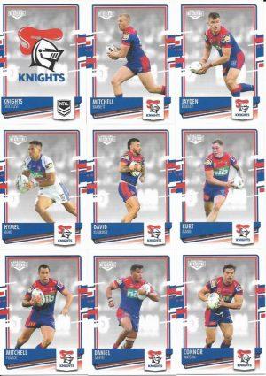 2021 Nrl Elite Knights Team Set