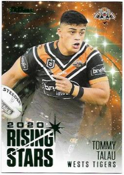 2021 Nrl Traders Album Parallel Rising Stars (RSP16) Tommy TALAU Wests Tigers