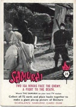 1964 Scanlens Samurai (24) Two IGA Ninja Face The Enemy, A Fight To The Death