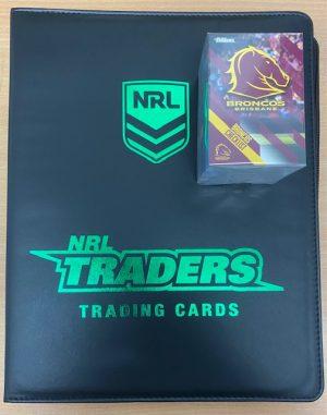 2021 NRL Traders Full Base Set (160 Cards) Generic Album & 30 Plastic Sleeves